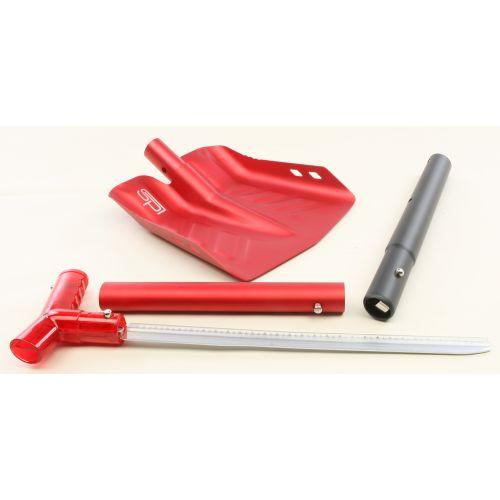 Лопата разборная с пилой (красная)